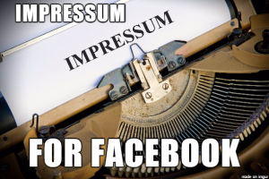Impressum Meaning with Impressum Facebook