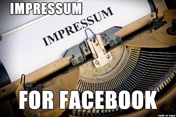 impressum meaning impressum facebook