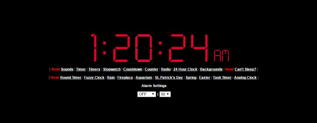 online alarm clock