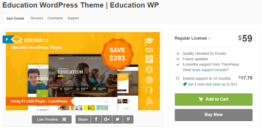 education wordpress themes