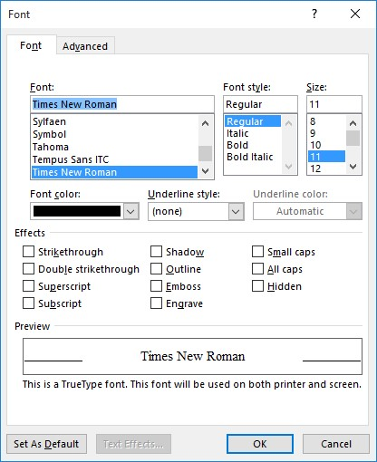 strikethorugh shortcut