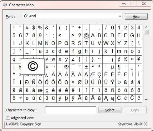 Copyright Symbol Insertion in MS Word, Office