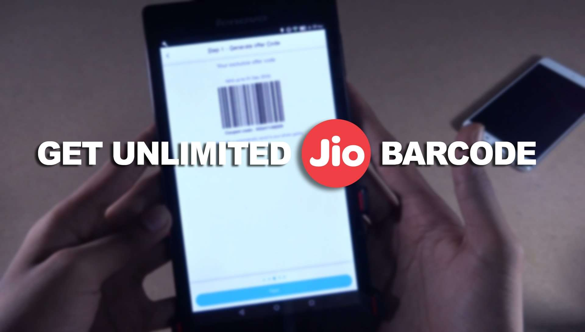 how to get unlimited jio barcode
