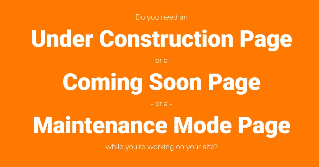 Under Construction page plugin review