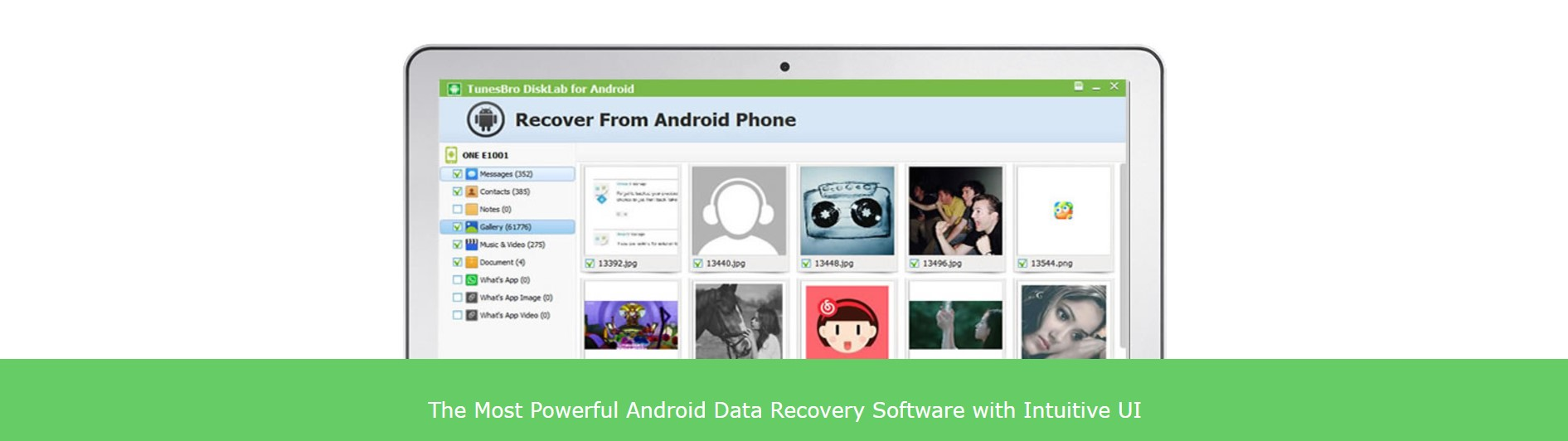 TunesBro DiskLab for Android: A Powerful Program to Recover Deleted Files on Android