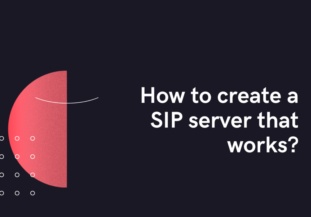 How to create a SIP server that works